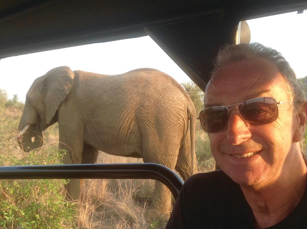 David Lloyd on safari