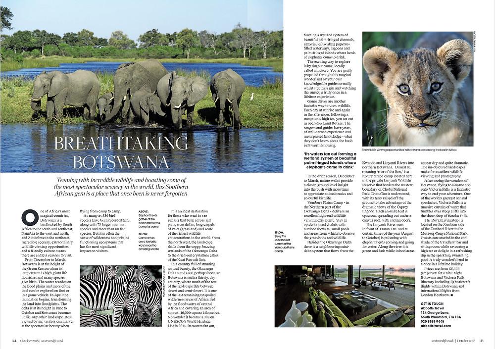 Breathtaking Botswana, West Essex Life