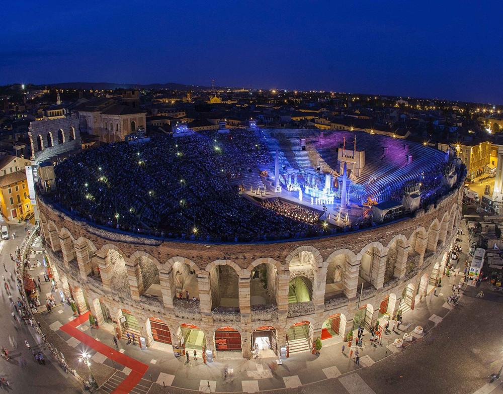 Opera at the Arena di Verona, Italy (Photo courtesy of Fondazione Arena di Verona)