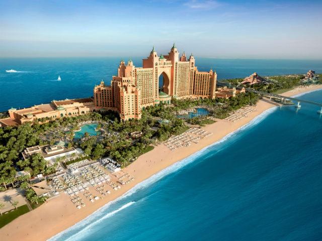 The Atlantis resort, Dubai, as seen from the air