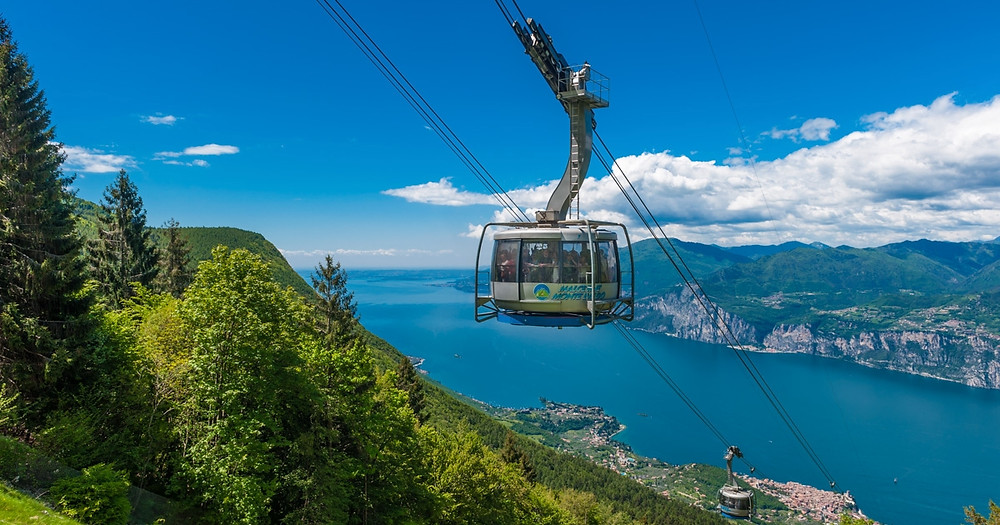 cable car to the top of Monte Baldo
