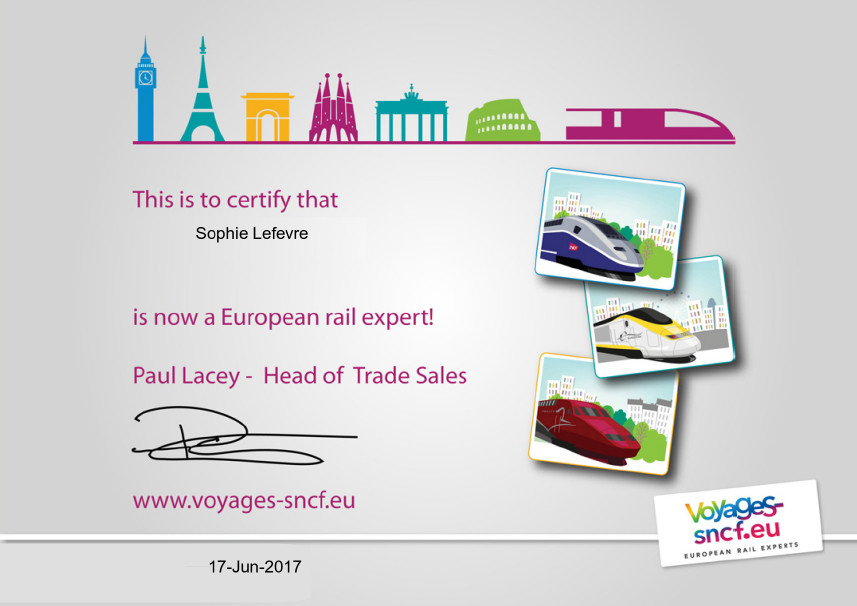 Online Travel Training course for Voyages SNCF
