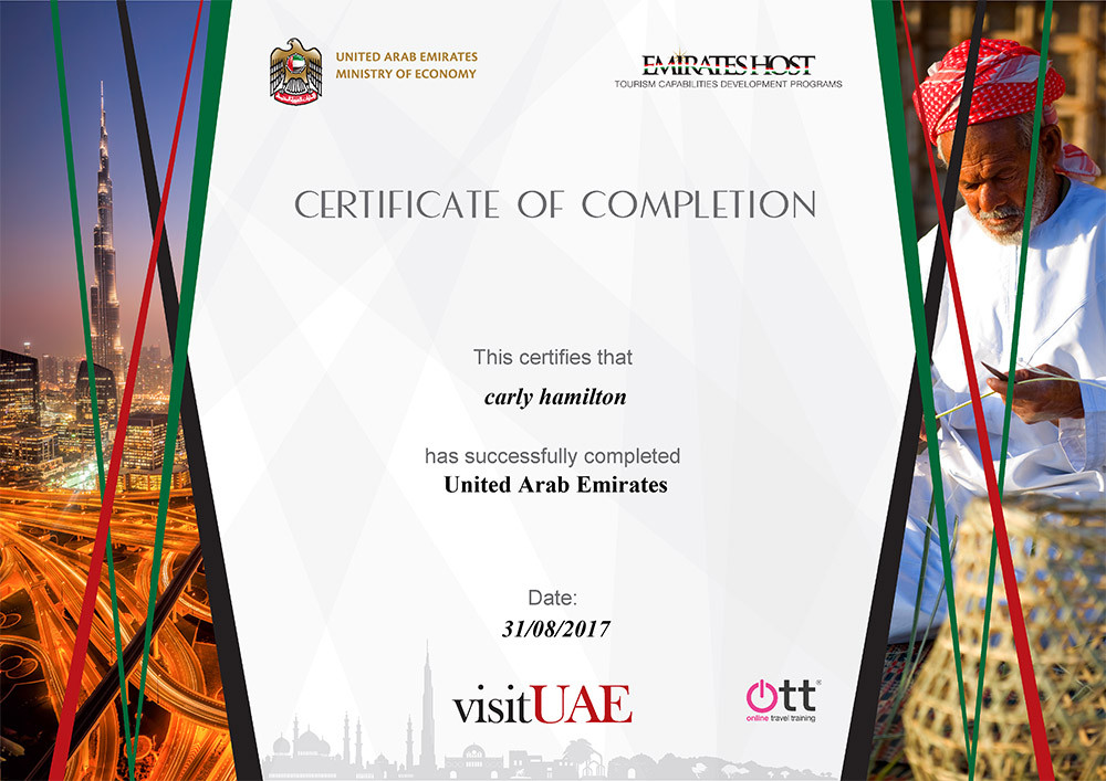 Online Travel Training course for Emirates