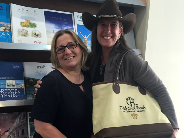 Julie from Abbotts Travel with Triple Creek Ranch's Jennifer O'Donohue