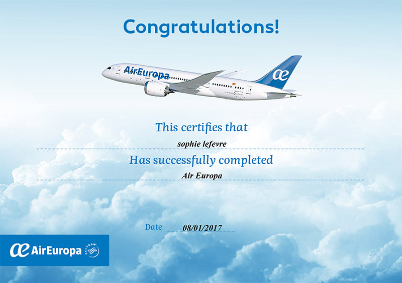 Air Europa specialist training