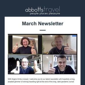 Abbotts Travel Newsletter - March 2021