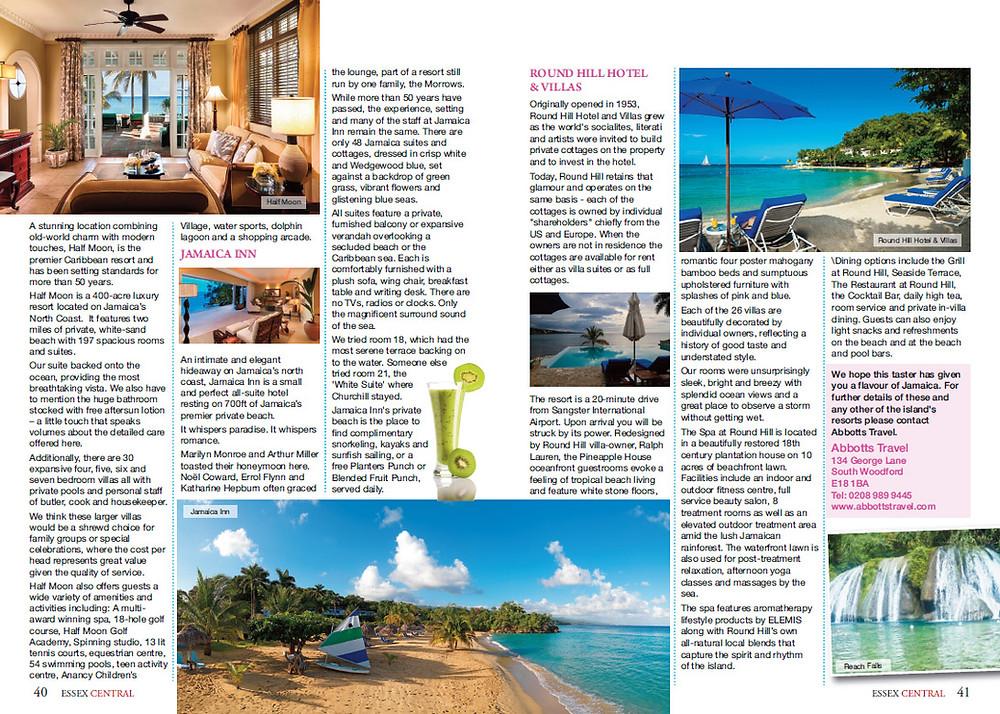 Luxury Jamaica, Essex Central Magazine