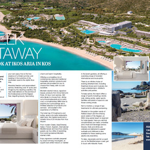 Greek Getaway: First Look at Ikos Aria in Kos, Essex Central Magazine - April 2019