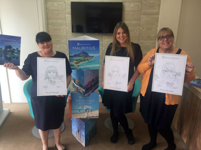 Shelley, Carly and Alex unveil their portraits
