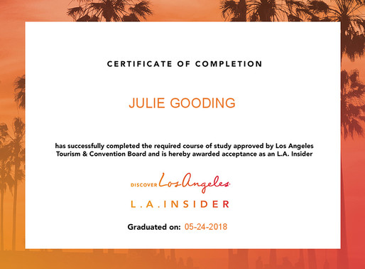 Julie Gooding has completed the LA Insider online training programme
