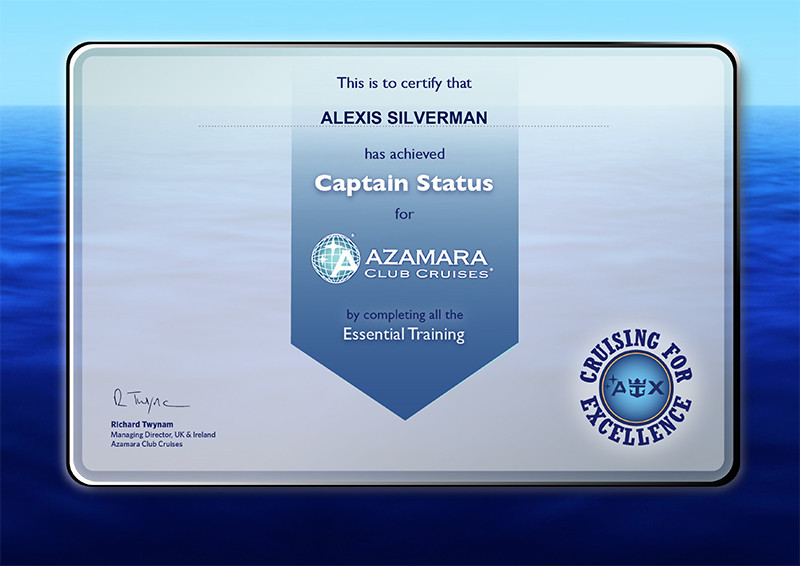 Azamara Club Cruises essential training