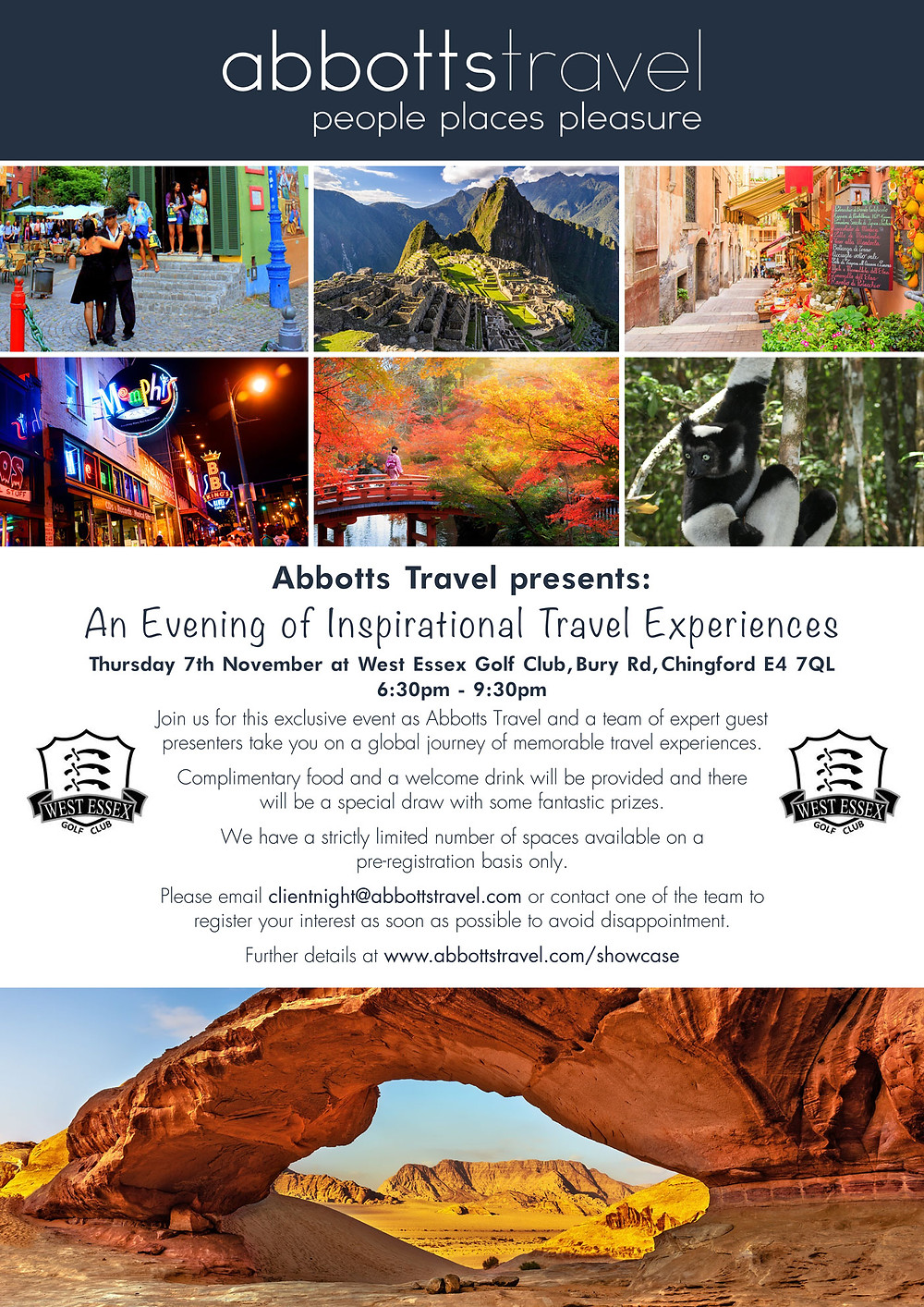 Showcase Event: An Evening of Inspirational Travel Experiences - 7 November 2019