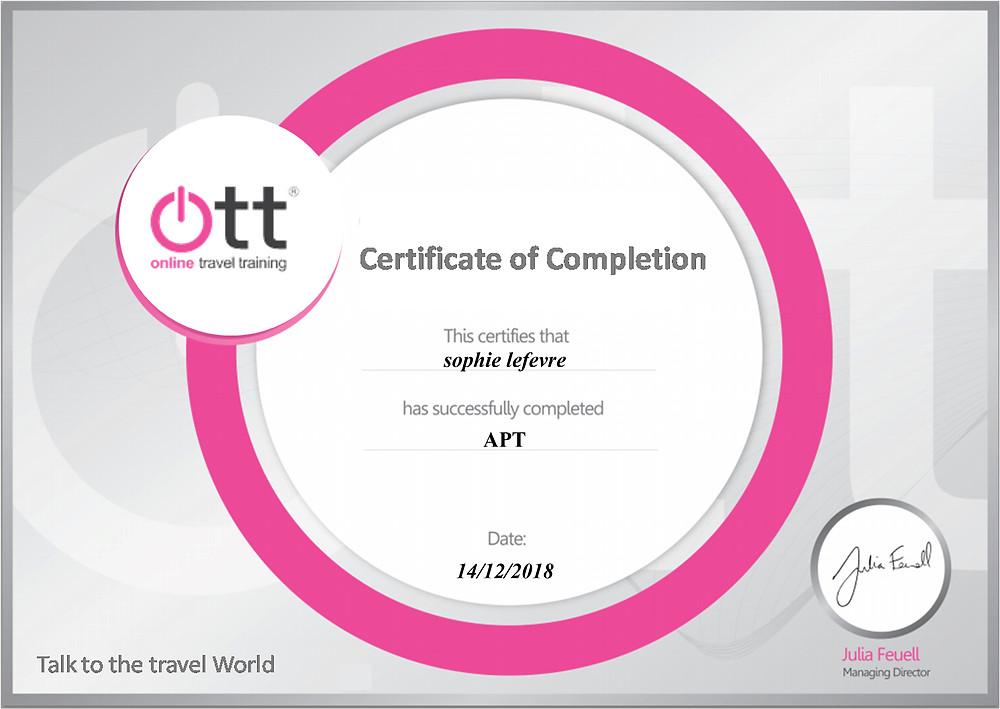 APT online training programme
