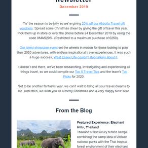 Abbotts Travel Newsletter, December 2019
