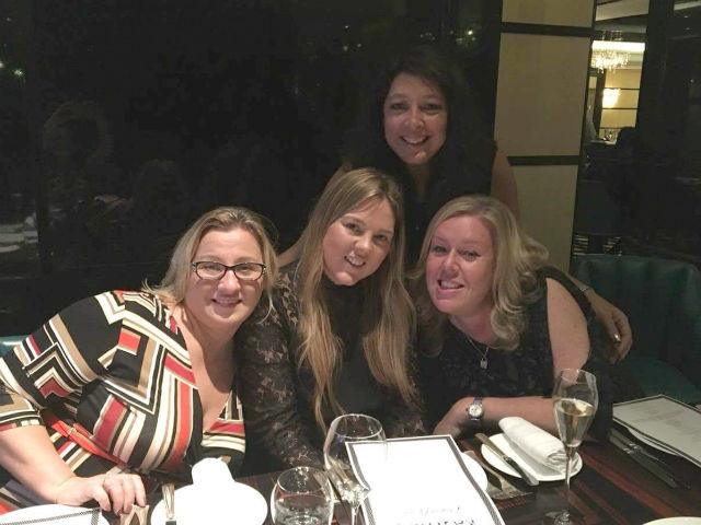 (L-R: Julie, Carly,Annabelle Marshall from Fairmont Royal Pavilion and Tracie Winer from Exemplar Travel.