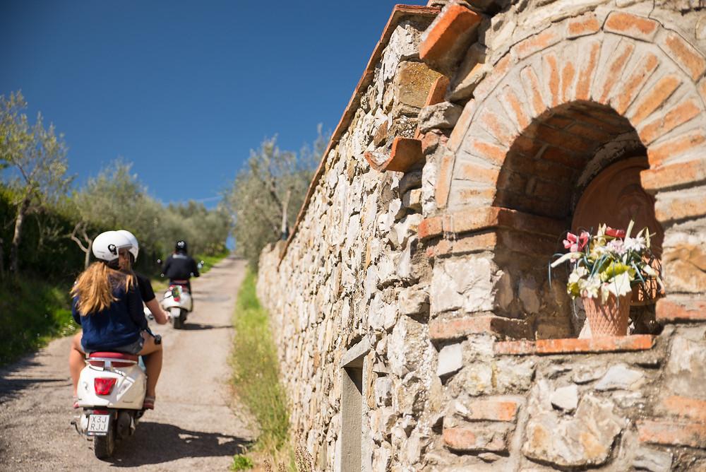 Vespa tour of Tuscany
