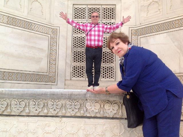 Optical illusions at the Taj Mahal