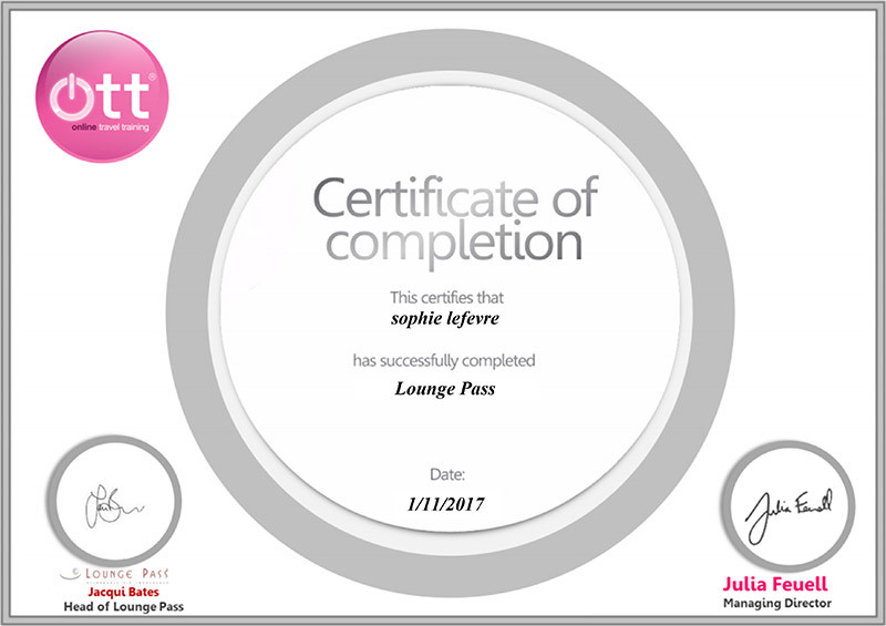 Lounge Pass specialist training