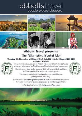 Abbotts Travel - CGC - Bucket List - Onl