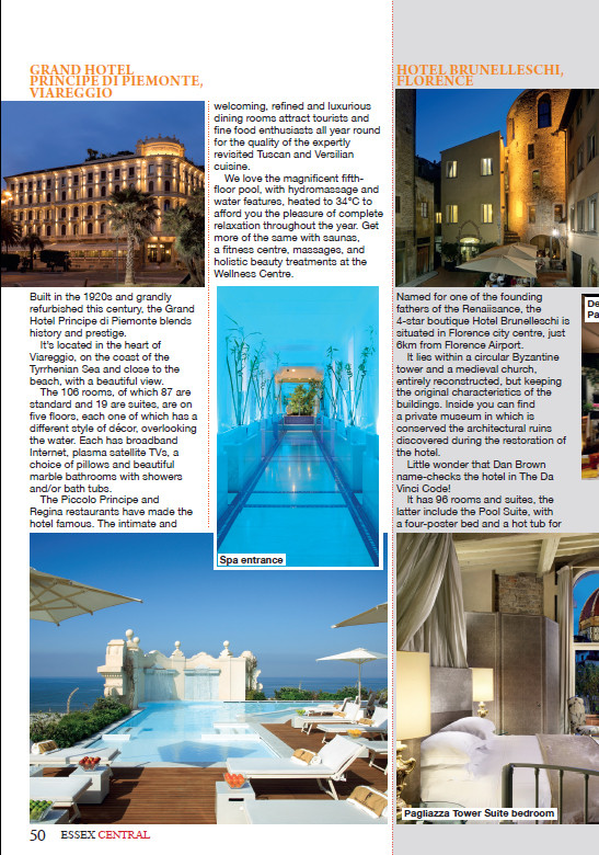 Tempting Tuscany, Essex Central Magazine - July 2016 - p50