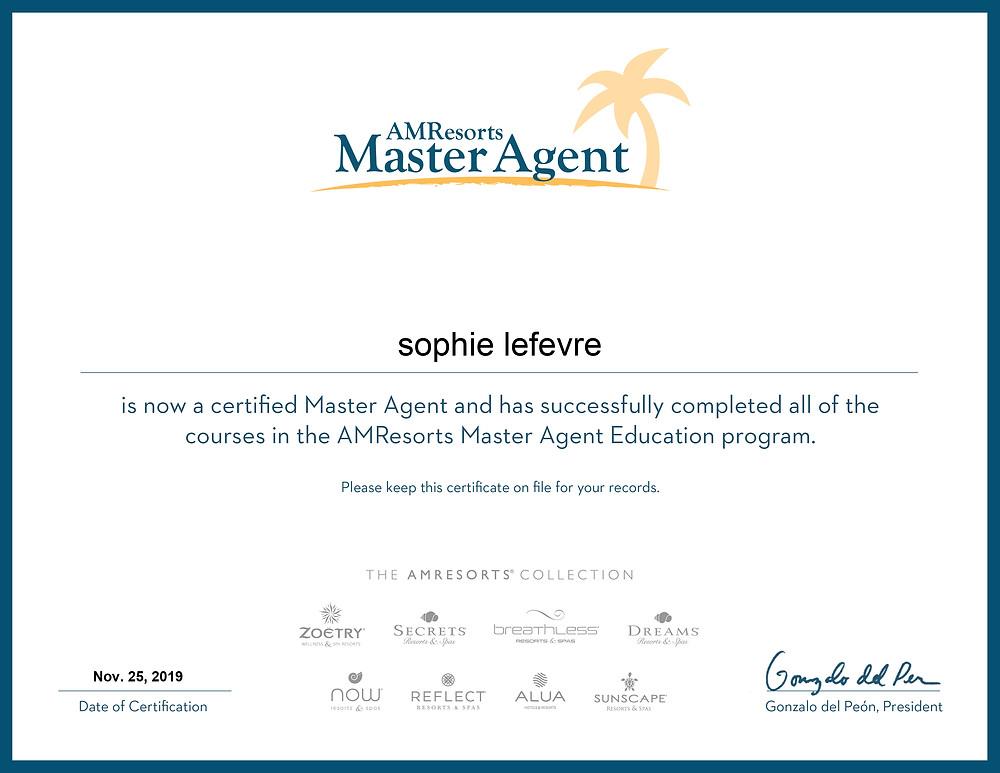 AMResorts Master Agent Education programme