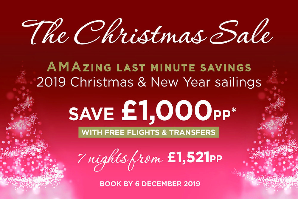The AmaWaterways Christmas Sale