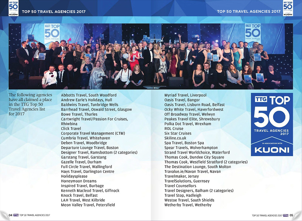 TTG Top 50 Travel Agencies 2017