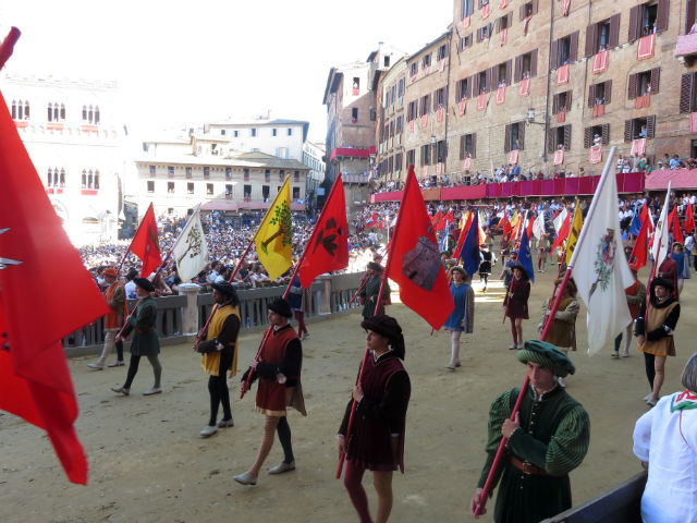 Colour and pageantry at The Palio parade
