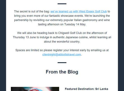 Abbotts Travel Newsletter, March 2019