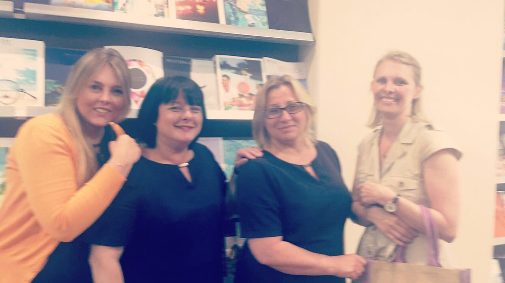 Abbotts Travel staff with Francesca D'Marco from Essential Detail