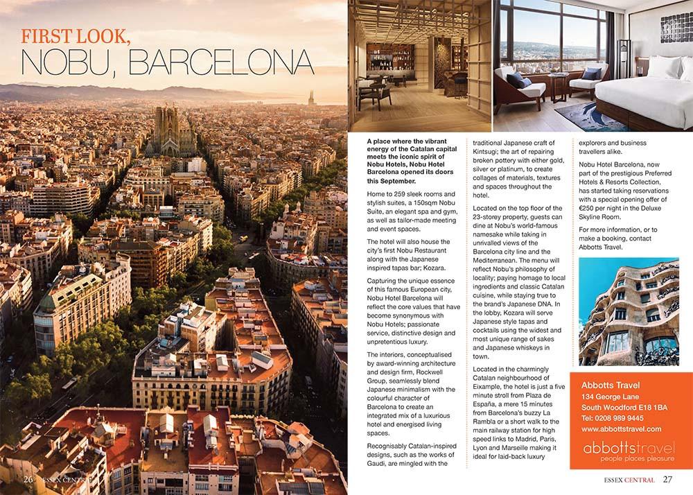 Nobu, Barcelona, Essex Central Magazine