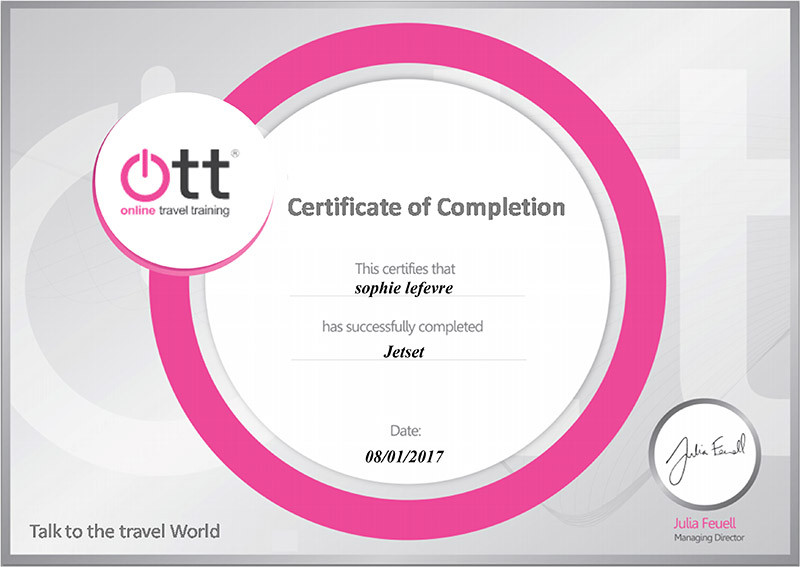 Jetset specialist training