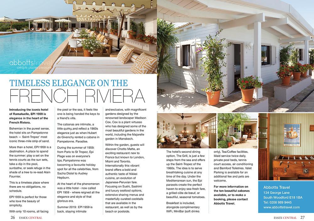 French Riviera, Essex Central Magazine