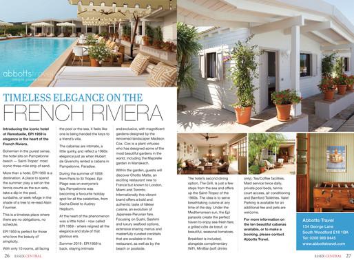 French Riviera, Essex Central Magazine - July/ August 2019