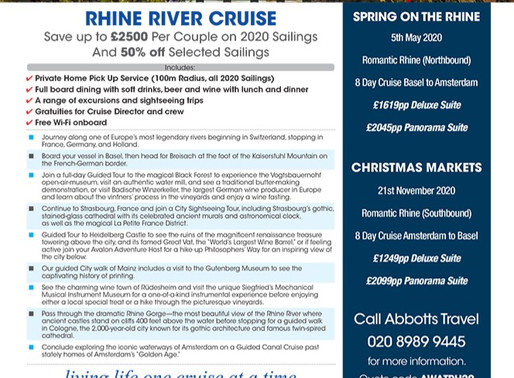 Special Offer: Save up to £2,500 per couple on Rhine River Cruise