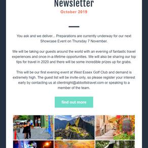 Abbotts Travel Newsletter, October 2019