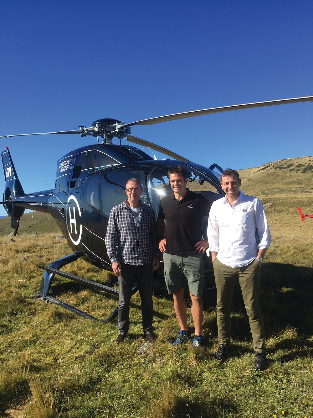 David Lloyd with Richie McCaw and Mike Atherton