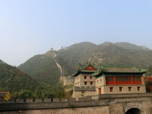 A phenomenal view, amid the mist, of The Great Wall of China