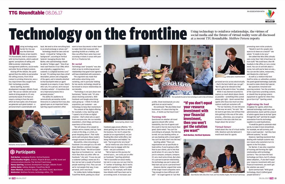 Technology on the frontline, TTG