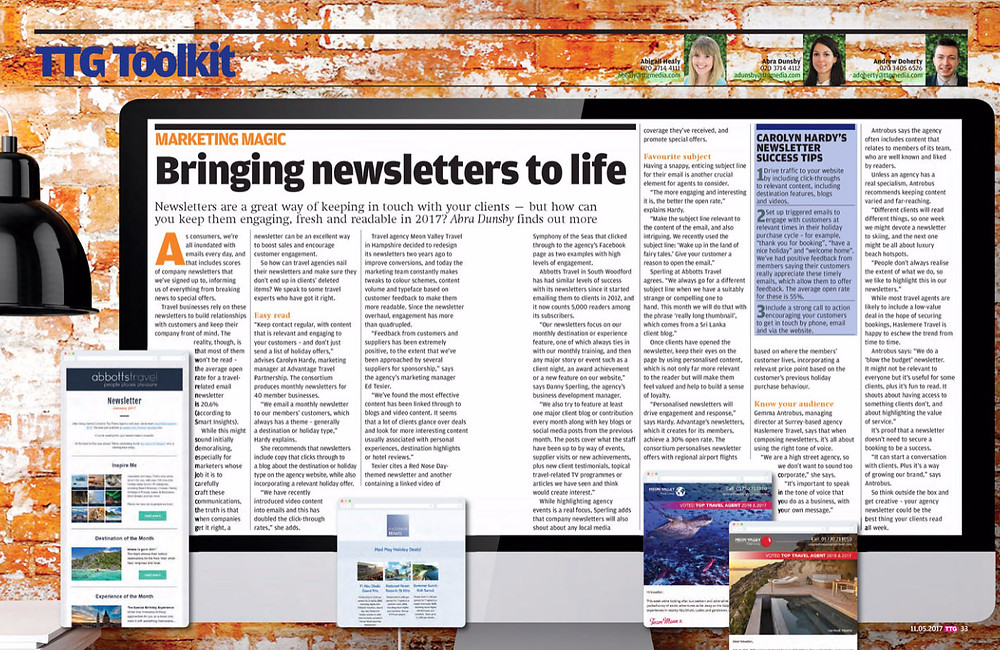 Bringing newsletters to life, TTG