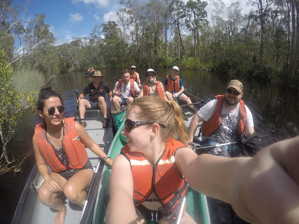 Canoeing on the Noosa River