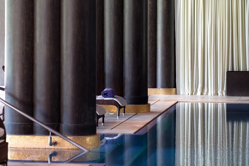 Indoor pool at Nescens Spa, La Réserve Genève