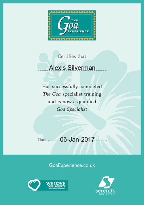 The Goa Experience specialist training