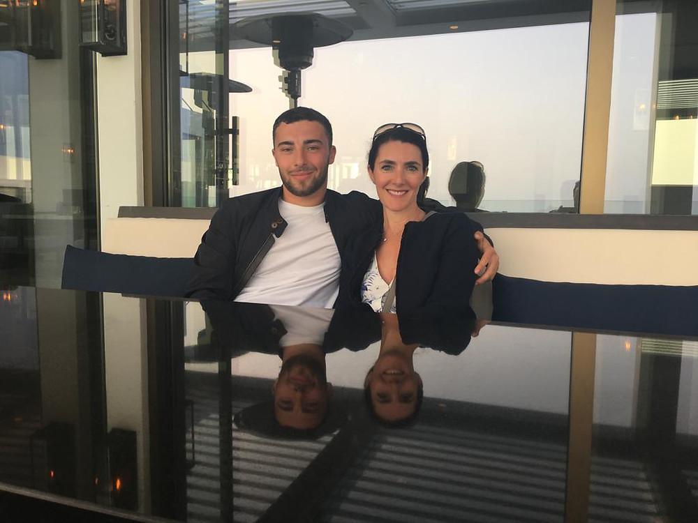 Joe and Natalie at Almyra in Paphos