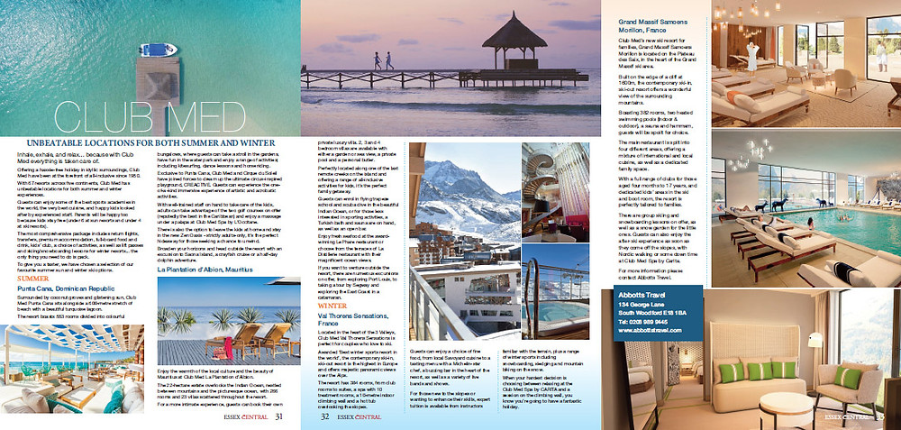 Club Med, Essex Central Magazine