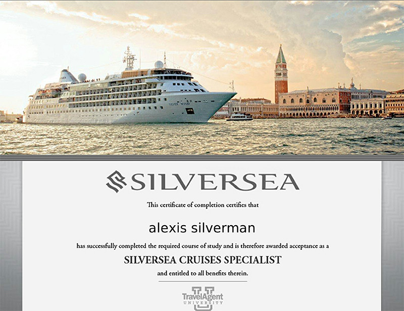 Silversea Cruises specialist training