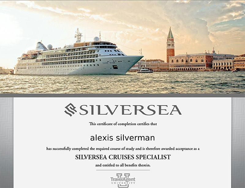 Silversea Cruises specialist training