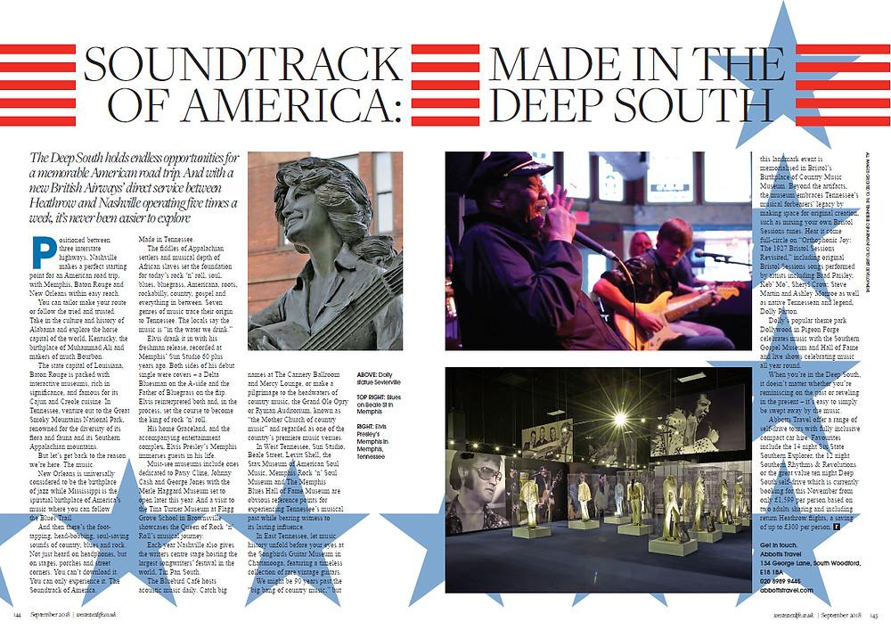 Soundtrack of America, West Essex Life