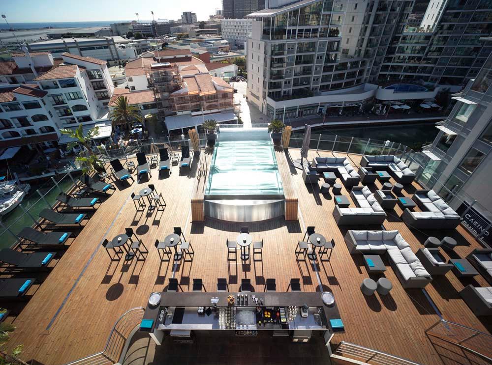 Sundeck on Sunborn Gibraltar, Super Yacht Hotel
