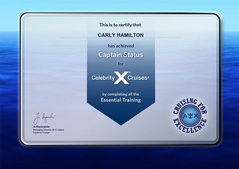 Celebrity Cruises essential training